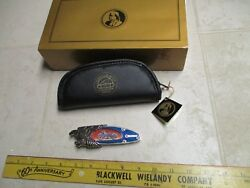 Franklin Mint Collector Knife Harley Davidson Motorcycle Blue 1948 Panhead Eagle