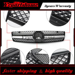 New Front Hood Sport Black Grill Grille For Benz SL Class R129 W129 1990-2002
