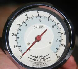 Vintage Smiths Marine Boat Speed Mph And Knots Speedometer 3 1/8 Gauge - 820970