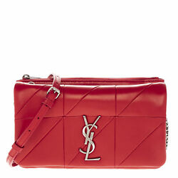 Yves Saint Laurent Women's Jamie Chain Wallets in Red Patchworks Leather