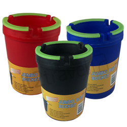 Large Ashtray Outdoor Butt Bucket for Car Home Portable Ash Holder with Glow Top $6.95