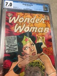 Wonder Woman 1st Series Dc 95 1958 7.0 Cgc Rare Book Awesome Cover