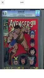 Avengers 38 Cgc 9.2 Ow/white Pages Hercules Black Widow Nick Fury Appearance