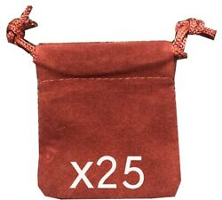 Felt Coin Airtite Capsule Capital Pouches 2x2.5 Burgundy Gift Giving 25 Holders