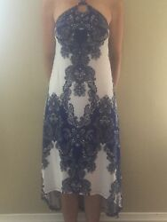 BeautifulSummer Partydress. White blue and black. INC Beach. Small size. $70.00