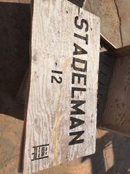 Stadelman Fruit Crate Sign, From Wooden Shipping Crate, Distressed Salvage Decor