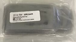 100 High Quality Holders Pouches Sleeves For 10 Oz Silver Bar 2.5x5 Inch New
