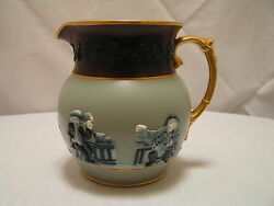 Rare Antique Copeland Late Spode Good Old Ale Drinking Pitcher,england,ca1891
