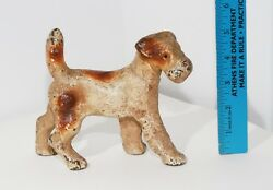 ANTIQUE DOORSTOP HUBLEY? FOX TERRIER - MINIATURE 5