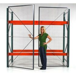 New Wire Mesh Pallet Rack Enclosure -hinged Door 108x96