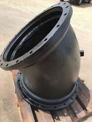 """30"""" MJ MECHANICAL JOINT 90 Degree Bend 1/8 Elbow, C110 Ductile Iron USA MADE"""