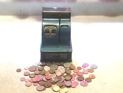Nickels Dimes Quarter Metal Uncle Sam's 3 Coin Register Bank Work 1/4 Pound Coin