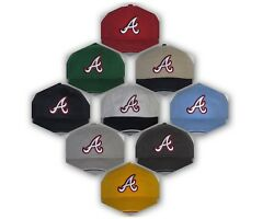 Atlanta Braves Polo Style Cap Hat ✨classic Mlb Patch/logo ✨12 Hot Colors ✨new