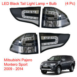 LED Black Tail Light Lamp + Bulb For Mitsubishi Pajero Montero Sport 2009 - 2014