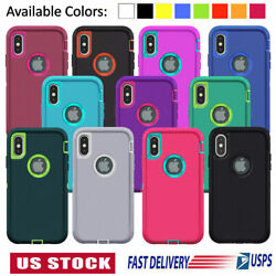 For iPhone 11 12 Mini Pro 6 7 8 Plus XS Max XR X SE Case Shockproof Rubber Cover $6.89