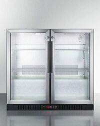 Summit Scr7012dbcss Commercial Back Bar Freestanding Beverage Center