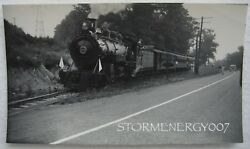 East Broad Top Railroad 15 Train Enthusiasts Route 522 Orbisonia Pa 1950's Photo