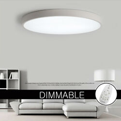 Ultra-thin LED Ceiling Light Dimmable Bedroom Panel Ceiling Fixtures Flush Mount