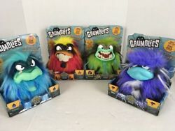 Pomsies Grumblies Bolt Scorch Hydro Tremor Complete Set New Skyrocket