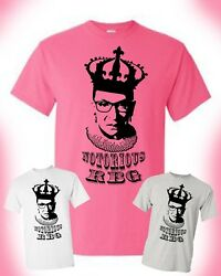Notorious RBG T shirt United States Supreme Court SCOTUS Ladies Female Unisex $10.99