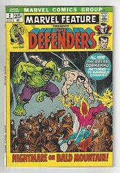 Marvel Feature Presents The Defenders 2, 1972, Vf Condition Copy