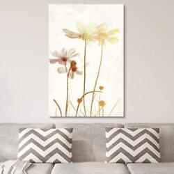 Wall26 - Vintage Style Golden Flowers Gallery - Cvs - 32x48 Inches