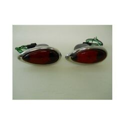 2 1938 - 1939 Ford 28 Led Stop Turn Tail Lights / Glass Lens / Original Style