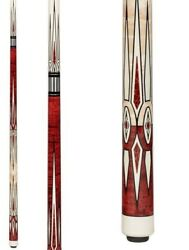Pechauer Pro Series P22-hc Crown Jewels Pool Cue W/ Free Case And Free Shipping