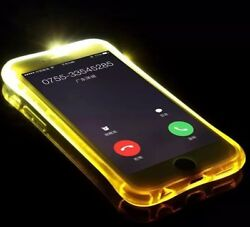LED Flash Light Up Incoming Call Luminous Phone Case Cover For X XR Max 11 8 7 6