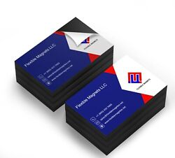 Self Adhesive Business Card Magnets 20 Mil Peel And Stick. Magnetic Backing
