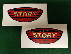 Story Propeller Decals Water Slide Type Ww2 - 1950s Vintage Aircraft And Drones