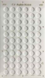 Capital Plastic Holder Display For Us Buffalo Nickels 1913-1938d/s White Case