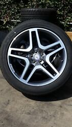 Set Of 4 Oe Mbz 21 Amg Take Off Wheels And Tires 166-401-2502