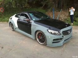 W205 Mercedes-benz C63C63S Coupe Full Wide Body Kit Front Bumper Side Skirt