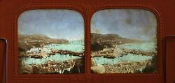Nice the Port France Stereo Diorama Tissue Vintage Albumin Ca 1865