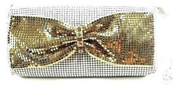 Bow Evening Clutches Bag Metal Mesh Party Prom Wedding Banquet Purse USA Stock $21.99