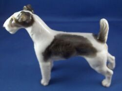 Antique Nymphenburg Porcelain Terrier Dog Figure Figurine Porzellan Figur Hund