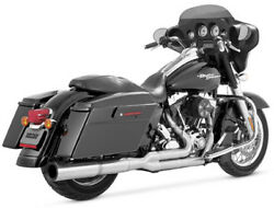 Vance & Hines Hi-Output Stainless Steel 2-Into-1 Exhaust For 2009 Harley FLHT