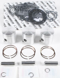 Wiseco Top End Piston And Gasket Set 71.3mm +0.7mm Over Polaris Slt 780 1996-1997