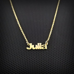 14k Gold Necklace Custom Multi Name Love Charm Personalized Jewelry Gift For Her