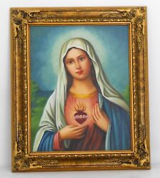 Immaculate Heart Of Mary Hand Paint / Gift / Home Decorative  2008