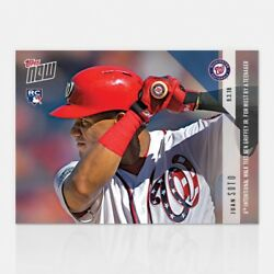 2018 Topps Now 680 Juan Soto 8th Intentional Walk Ties Griffer Jr. Most Ever