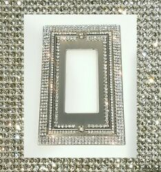 Crystal Bling Rhinestone Decorative Light Switch Plate Cover Single Rocker