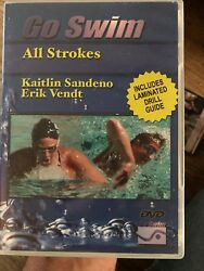Go Swim All Strokes with Kaitlin Sandeno Erik Vendt Olympic Swimming How To DVD