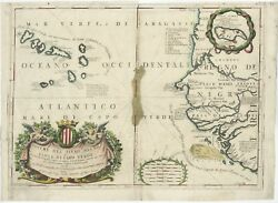 Antique Map Of The Cape Verde Islands And Part Of Senegal By Coronelli 1690