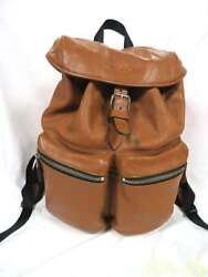 COACH leather backpack Brown small thread