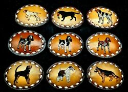 Leather Buckle DOG DOGS Hunting Lab Retriever Shepard Scottie Pointer Beagle
