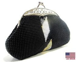 Women#x27;s evening clutches Party Prom Wedding Banquet Metal Mesh Purse $22.99