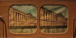 Museum of  the Louvre Paris France Photo Diorama Stereo Vintage Albumin Ca 1865