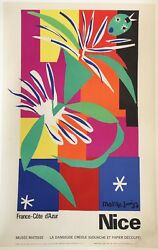Original Vintage French Art And Exhibition Poster By Henri Matisse1960and039s Nice
